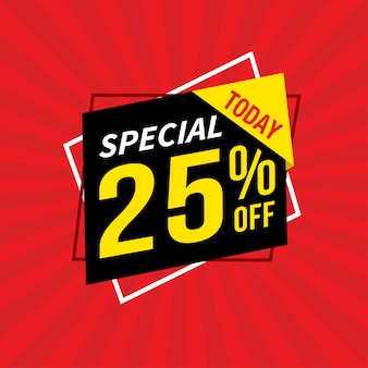 Verkoop en speciale aanbieding verkoop banner