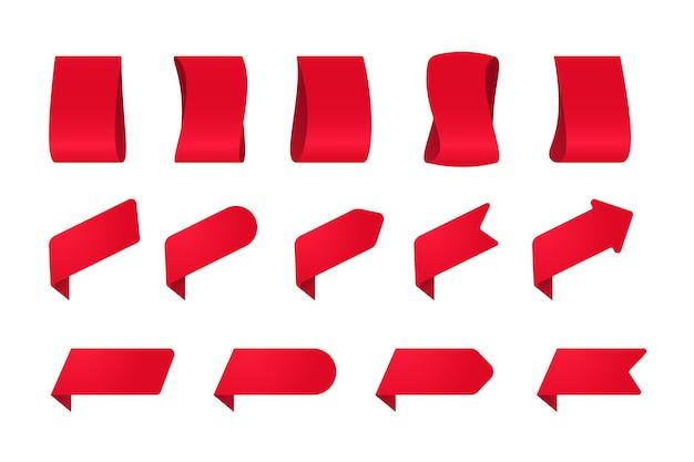 Verkoop etiket. promotie rode tag. sjablonen voor banneretiketten voor speciale aanbiedingen.
