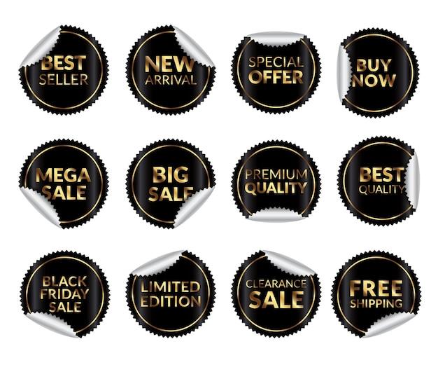 Verkoop etiketten collectie