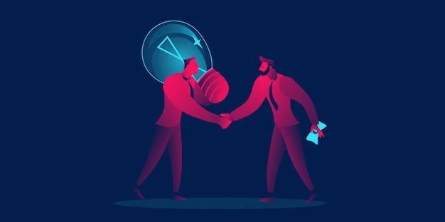 Verkoop idee, investeringen bedrijfsconcept