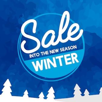 Verkoop in de nieuwe seizoenvector