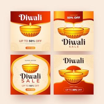 Verkoop instagram berichten diwali-feest