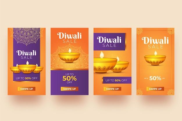 Verkoop instagram story pack diwali-evenement