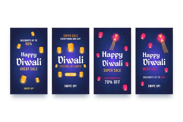 Verkoop instagram verhalen diwali-evenement