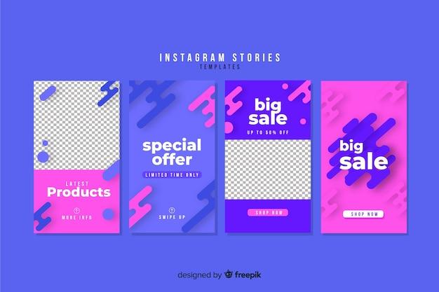 Verkoop instagram verhalen sjabloonverzameling