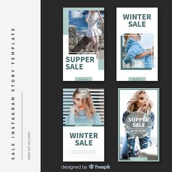 Verkoop instagram verhalen templates-collectie