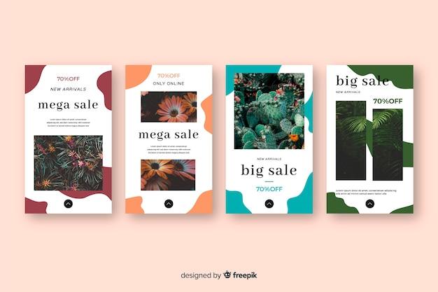 Verkoop kleurrijke abstracte instagramverhalen
