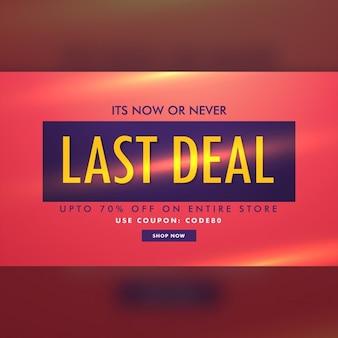 Verkoop korting deal banner template