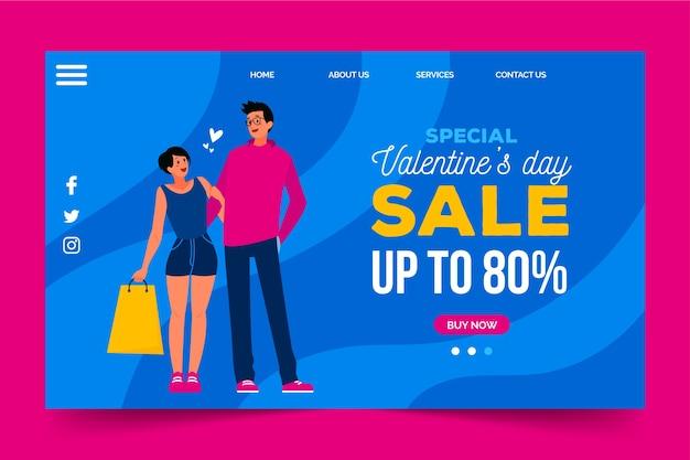 Verkoop met kortingen op valentijnsdag