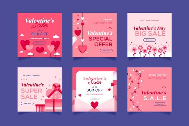 Verkoop op valentijnsdag op instragram