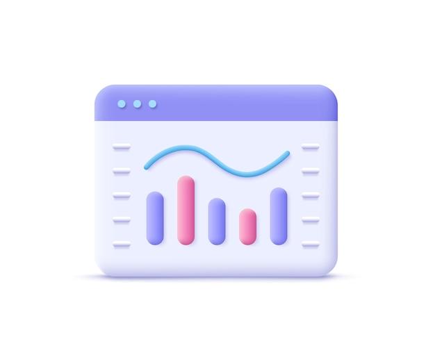 Verkoop, pictogram voor geldgroei verhogen, voortgangsmarketing. 3d-vectorillustratie.