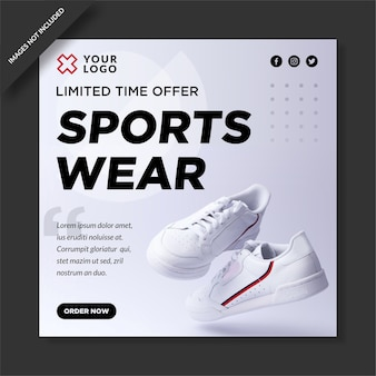 Verkoop post voor sportkleding