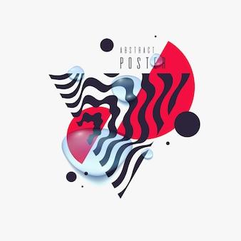 Verkoop poster zwarte druppels op abstracte illustratie als achtergrond