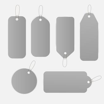 Verkoop prijskaartjes label ontwerp instellen illustratie