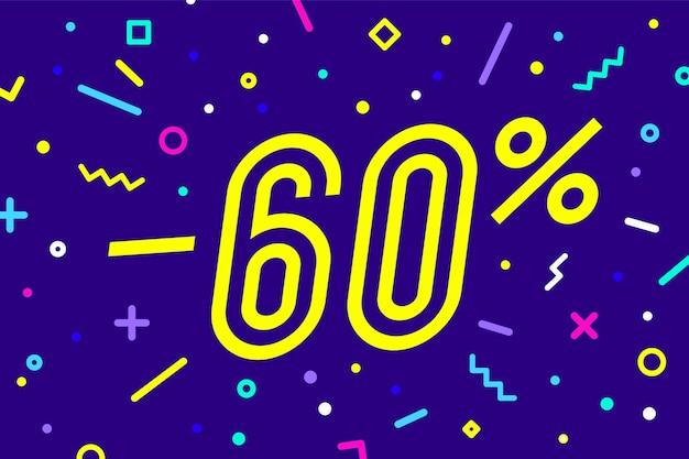 Verkoop procent. banner voor korting, verkoop.