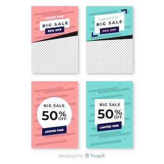 Verkoop sociale media banner met fotopakket