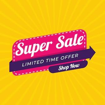 Verkoop speciale aanbieding en prijskaartjes ingesteld