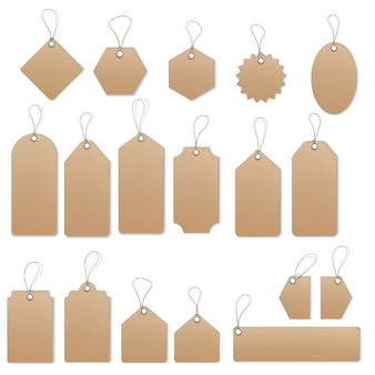 Verkoop tags en labels vector sjabloon set