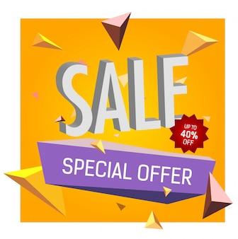 Verkoop tot 40% korting op speciale aanbieding belettering.