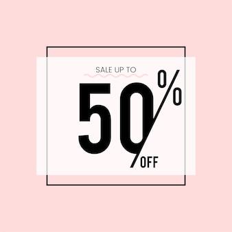 Verkoop tot 50% korting op vector