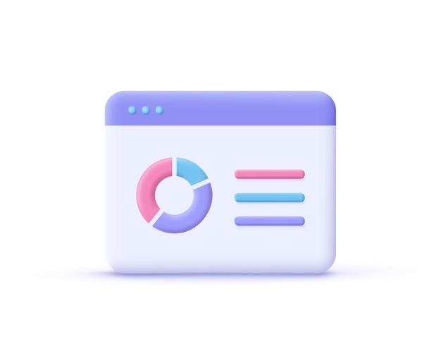 Verkoop verhogen geldgroei icon3d illustratie