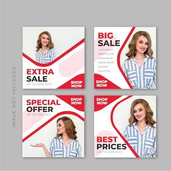 Verkoop vierkante banner sjabloon voor instagram-post