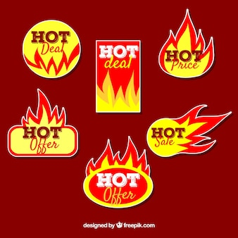 Verkoop vuur label / badge collectie
