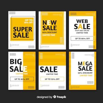 Verkoop webbanner collectie