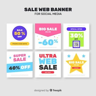 Verkoop webbanner voor sociale media