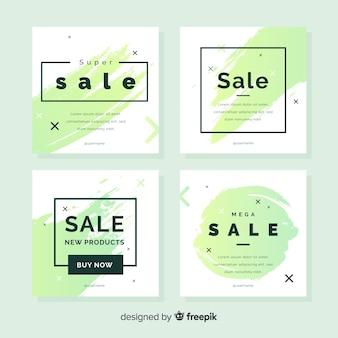 Verkoop webbanner voor verzameling van sociale media