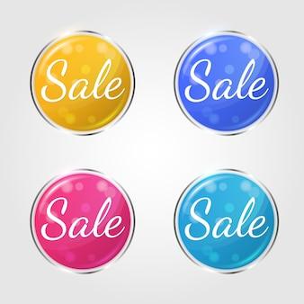 Verkoop winkelen etiketten voor zakelijke promotie.