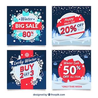 Verkoop winter banners instellen