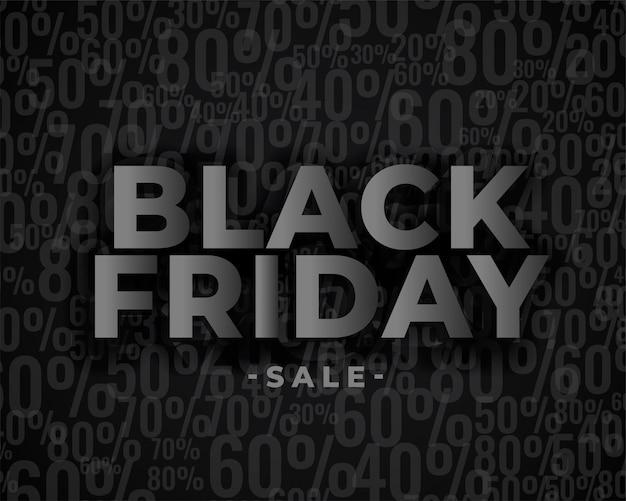 Verkoopbannerontwerp voor zwarte vrijdag