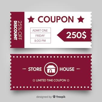 Verkoopconcept met coupon