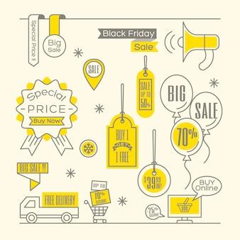 Verkoopmarkeringen label online winkelen