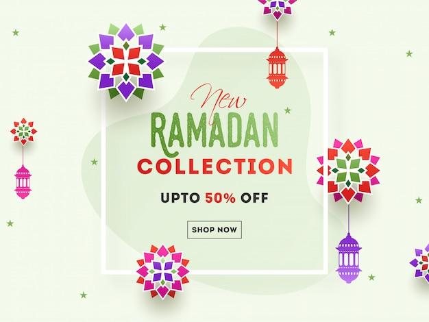 Verkooppost of concept ter gelegenheid van de heilige maand ramadan