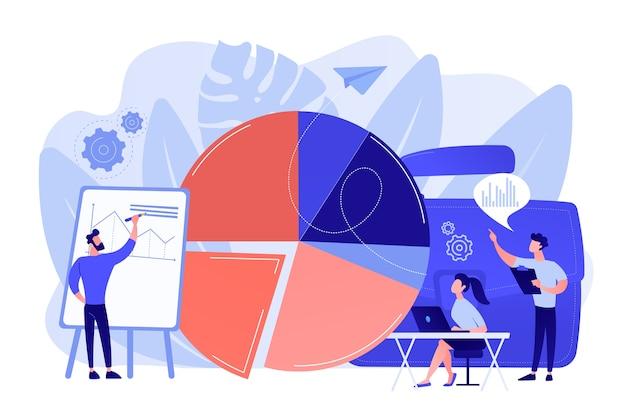 Verkooppraatje. gegevensvisualisatie-element, marketinggrafiek. onderzoeksgegevens