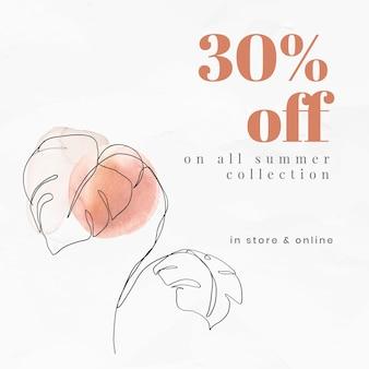 Verkoopsjabloon vector online winkelen advertentie met tekst 30% korting