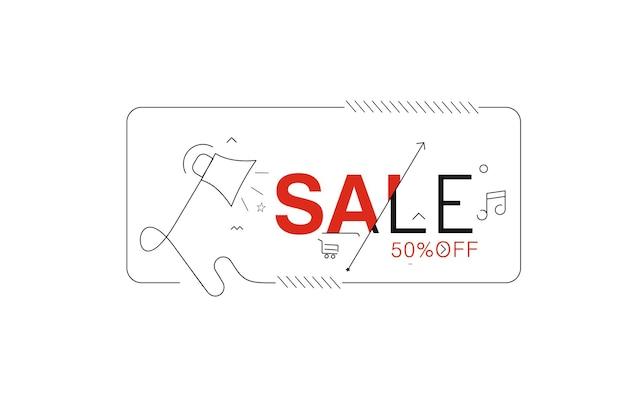 Verkooptekst gemaakt van vectorontwerpelement. gebruik voor modern design, dekking, poster, sjabloon, brochure, ingericht, flyer, banner.