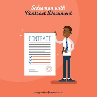 Verkoper met contract