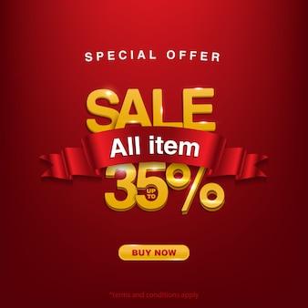 Verkrijg promo, speciale aanbieding verkoop alle items tot 35%