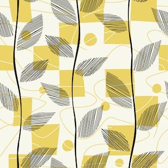 Verlaat naadloze patroon verspreid met vierkanten.
