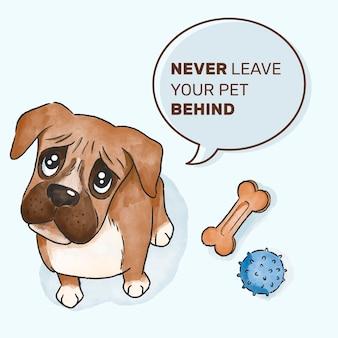 Verlaat nooit uw huisdierconcept