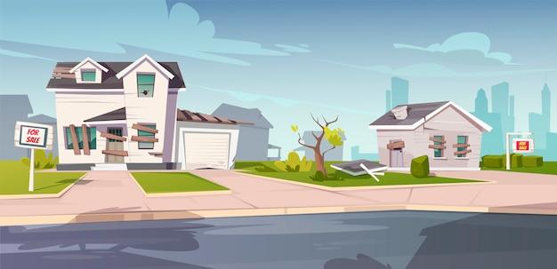 Verlaten huizen te koop, verwaarloosde huisjes