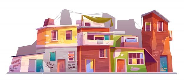 Verlaten oude huizen
