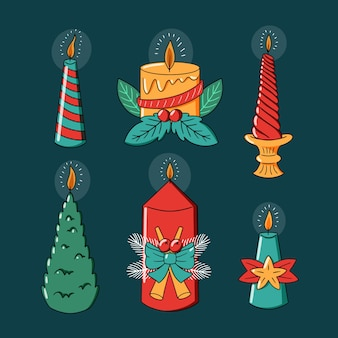 Verlicht kaarsen met leuke kerstontwerpen