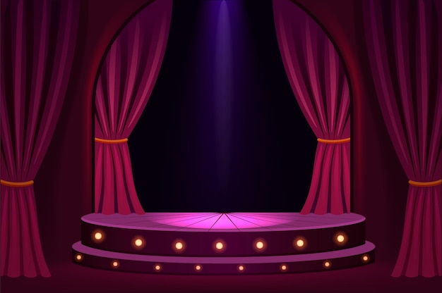 Verlicht podium in concertzaal