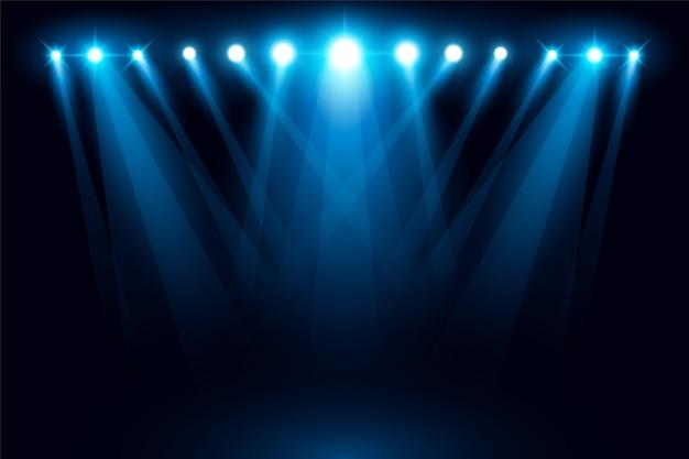 Verlichte fase lichte schijnwerperscène vectorillustratie