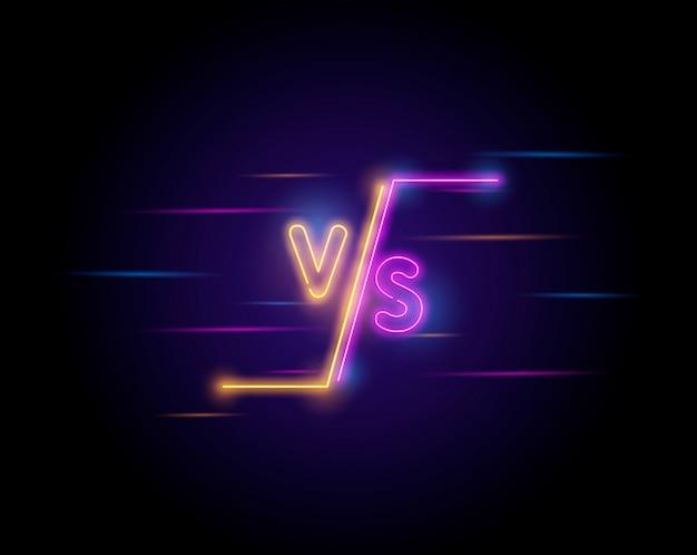 Verlichte neon versus scherm