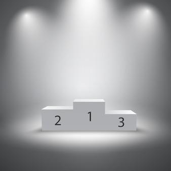Verlichte sport winnaars podium